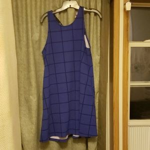 Blue Dress with lace detail in the back